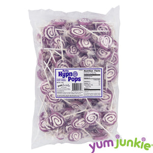 Purple Spiral Lollipops