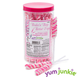Mini Pink Twist Lollipops