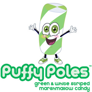 Green Puffy Poles Marshmallow Candy