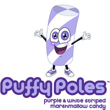 Purple Puffy Poles Marshmallow Candy