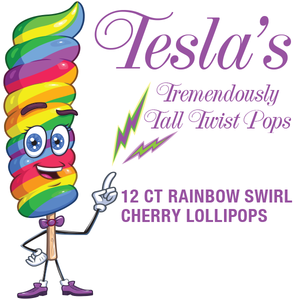 Giant Rainbow Twist Lollipops
