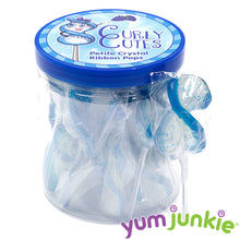 CurlyCutes Petite Crystal Ribbon Pops - Blue Raspberry: 20-Piece Jar