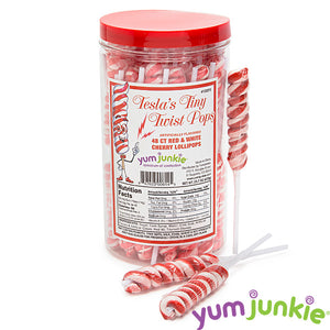 Mini Red Twist Lollipops
