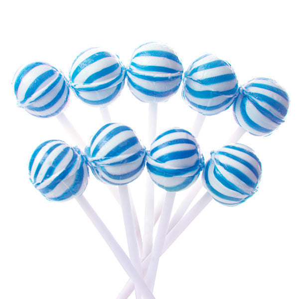 Blue Mini Ball Lollipops