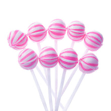 Pink Mini Ball Lollipops