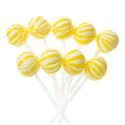 Yellow Mini Candy Suckers