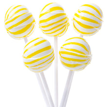 Yellow Ball Lollipops