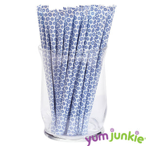 Blue Candy Straws