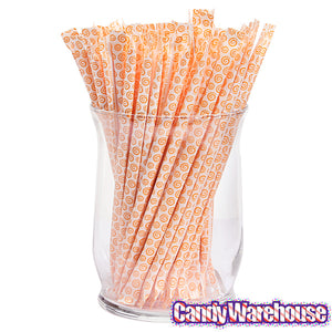 Orange Candy Straws