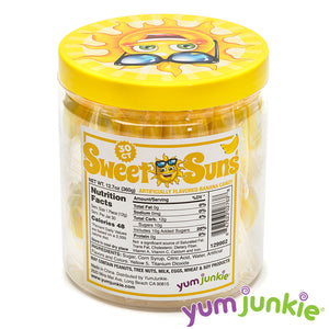 Sweet Suns Yellow Swirl Hard Candy Circles: 30-Piece Jar