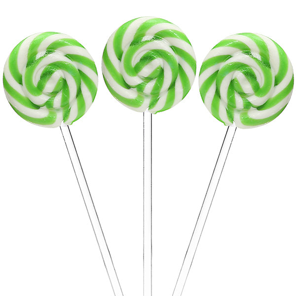 Green Swirl Lollipops