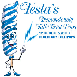 Giant Blue Twist Lollipops
