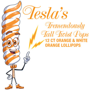Giant Orange Twist Lollipops