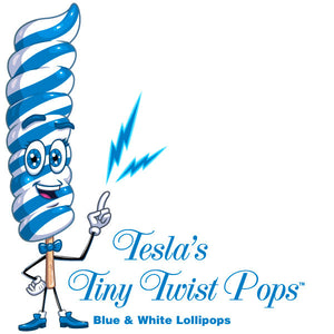 Blue Twist Lollipops