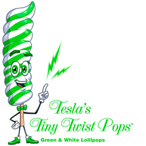 Mini Green Twist Lollipops
