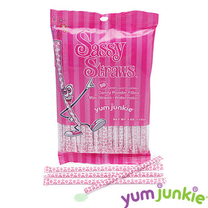 Hot Pink Candy Straws