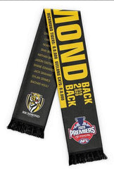 Christmas Gift Ideas AFL Richmond Tigers 2020 Premiers Scarf