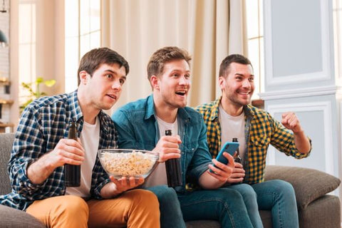Group of Friends Watching AFL Football