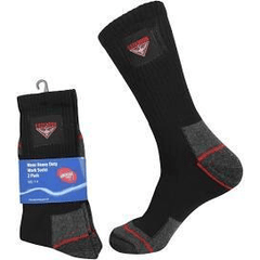 AFL Essendon Bombers heavy duty work socks