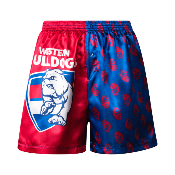 Western Bulldogs Mens Satin Boxer Shorts