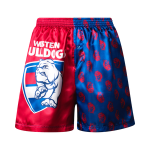 Western Bulldogs Youth Satin Boxer Shorts