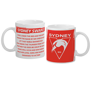 Sydney Swans Song and Logo Mug
