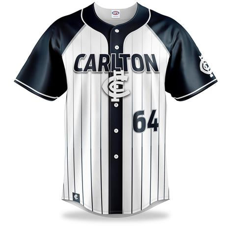 Carlton Blues Baseball Shirt