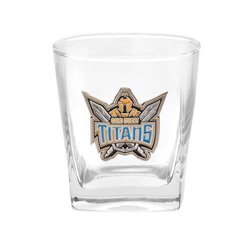 Gold Coast Titans Printed Spirit Glass Twin Pack