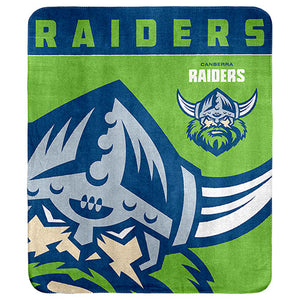 Canberra Raiders Fleece Throw Rug New Logo