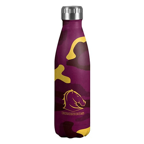 Brisbane Broncos Camo Wrap Thermo Water Bottle