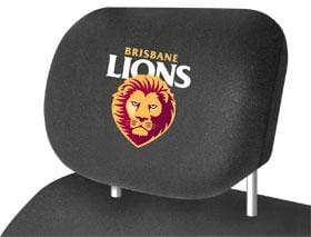 Footy Plus More AUTOMOTIVE Brisbane Lions Car Headrest Cover Pkt of 2