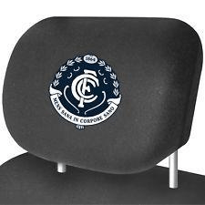 Footy Plus More AUTOMOTIVE Carlton Blues Car Headrest Covers Set Of 2