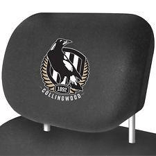 Footy Plus More AUTOMOTIVE Collingwood Magpies Car Headrest Covers Set of 2