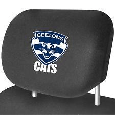 Footy Plus More AUTOMOTIVE Geelong Cats Headrest Cover Set Of 2