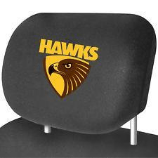 Footy Plus More AUTOMOTIVE Hawthorn Hawk Headrest Cover Set Of 2