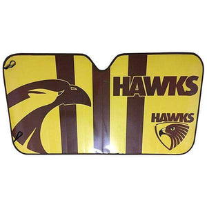 Footy Plus More AUTOMOTIVE Hawthorn Hawks Sun shade