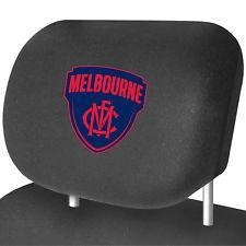 Footy Plus More AUTOMOTIVE Melbourne Demons Headrest Covers Set Of 2