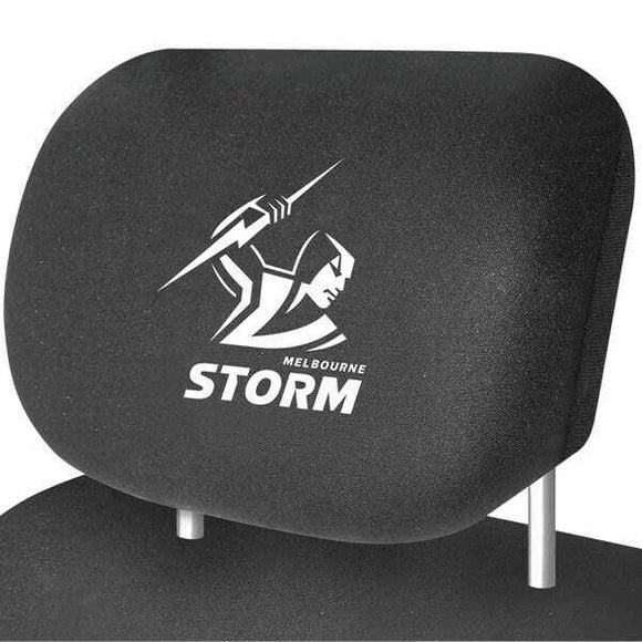 Footy Plus More AUTOMOTIVE Melbourne Storm Car Headrest covers Set Of 2
