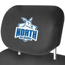 Footy Plus More AUTOMOTIVE North Melbourne Kangaroos Car Headrest Covers Set Of 2