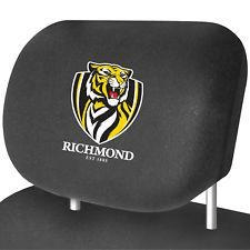 Footy Plus More AUTOMOTIVE Richmond Tigers Car Headrest Covers Set of 2
