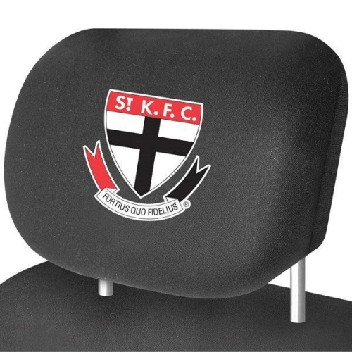 Footy Plus More AUTOMOTIVE St Kilda Saints Car Headrest Covers Set Of 2
