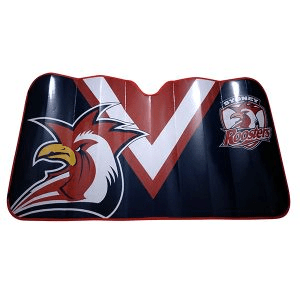 Footy Plus More AUTOMOTIVE Sydney Roosters Sun Shade