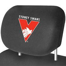Footy Plus More AUTOMOTIVE Sydney Swans Car Headrest Covers Set Of 2