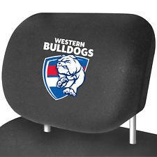 Footy Plus More AUTOMOTIVE Western Bulldogs Car Headrest Covers Set of 2