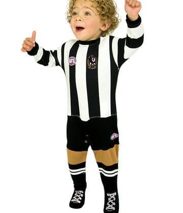 Footy Plus More BABY Collingwood Magpies Footysuit
