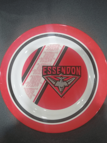 Footy Plus More BABY Essendon Bombers Melamine Plate Large 25cm