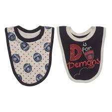 Footy Plus More BABY Melbourne Demons 2 Pack Bib Set