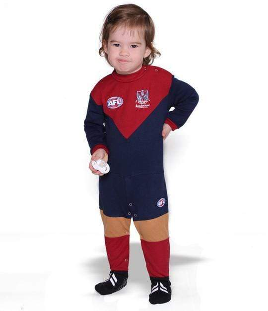 Footy Plus More BABY Melbourne Demons Footysuit