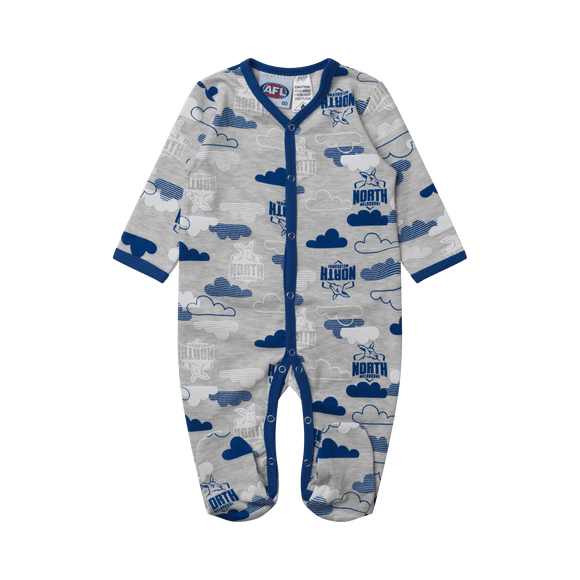 Footy Plus More BABY North Melbourne Kangaroos Babies Coverall 2019