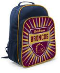 Footy Plus More backpack Brisbane Broncos Youth Shield Backpack